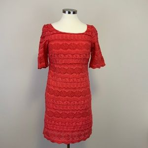 Moulinette Soeurs Dazzling Lights Eyelet Red Dress
